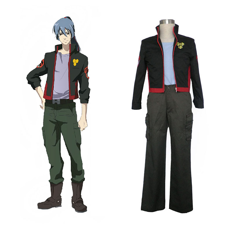 Macross F Ozma Lee 1 SMS Team Anime Cosplay Costumes Outfit
