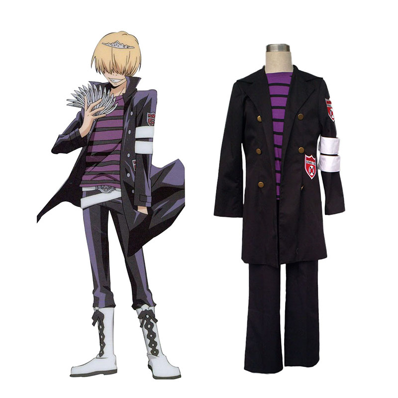 Hitman Reborn Belphegor 1 Anime Cosplay Costumes Outfit