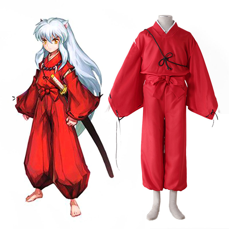Inuyasha 2 Red Anime Cosplay Costumes Outfit