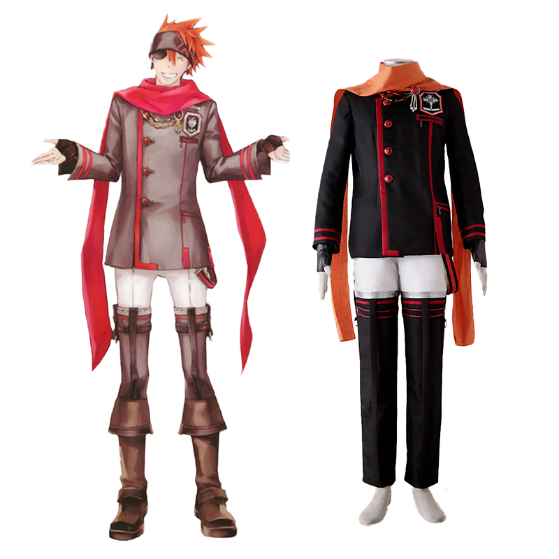 D.Gray-man Lavi 3 Anime Cosplay Costumes Outfit