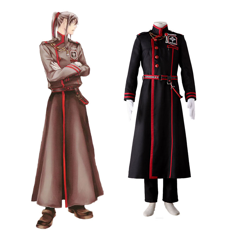 D.Gray-man Yu Kanda 3 Anime Cosplay Costumes Outfit