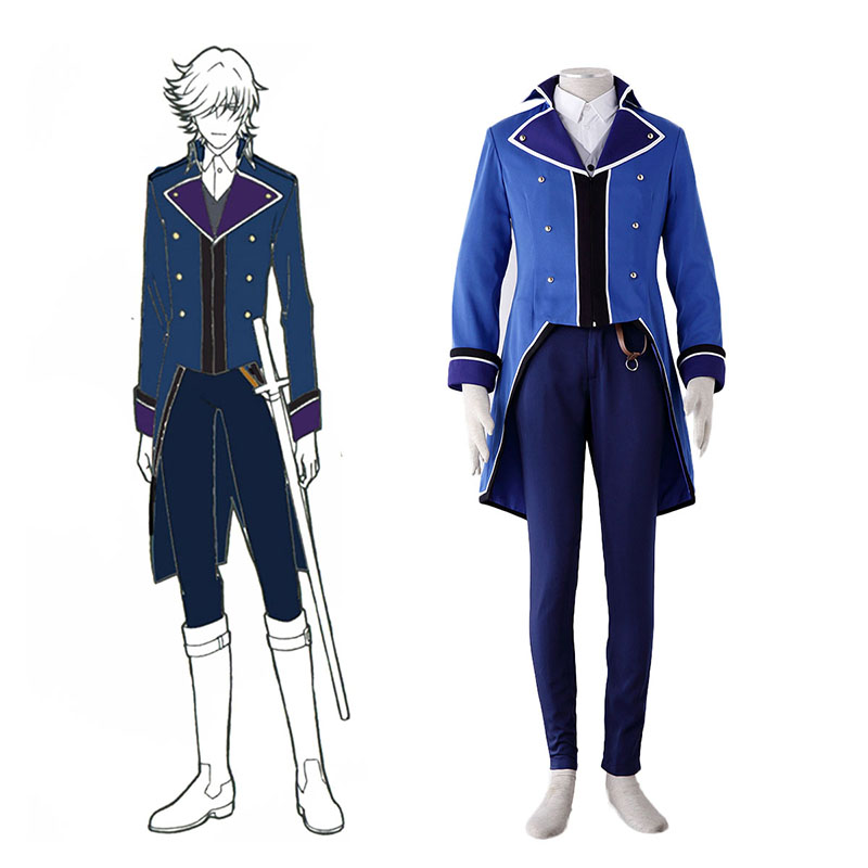 K Blue Organization Uniforms Anime Cosplay Costumes Outfit