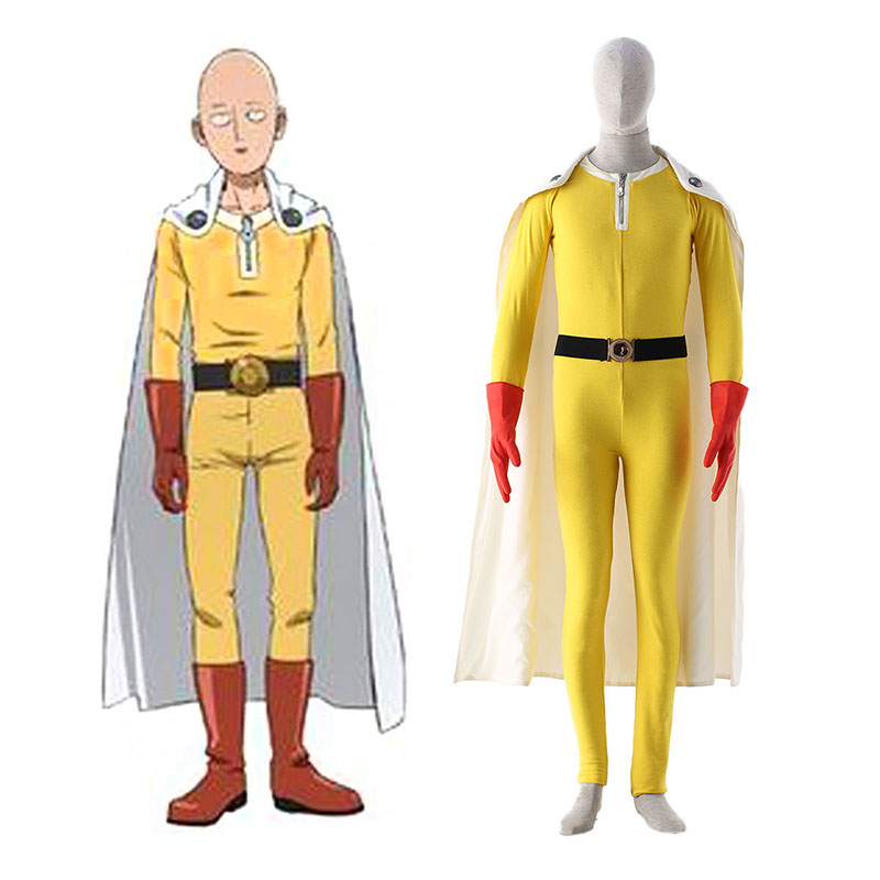 One Punch-man Saitama 1 Anime Cosplay Costumes Outfit