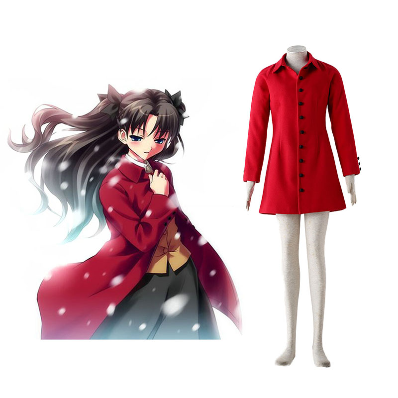 The Holy Grail War Tohsaka Rin 4 Red Anime Cosplay Costumes Outfit
