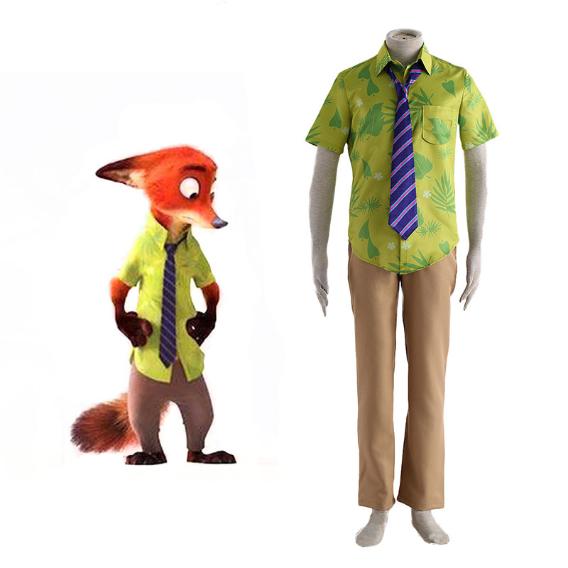 Zootopia Nick Normal Anime Cosplay Costumes Outfit