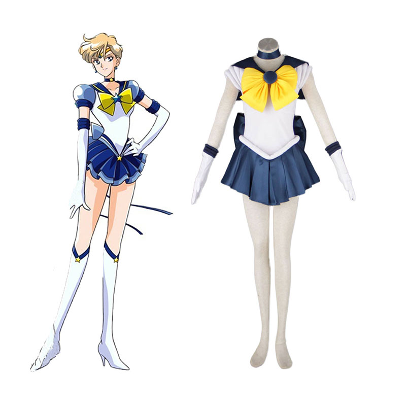 Sailor Moon Tenoh Haruka 1 Anime Cosplay Costumes Outfit