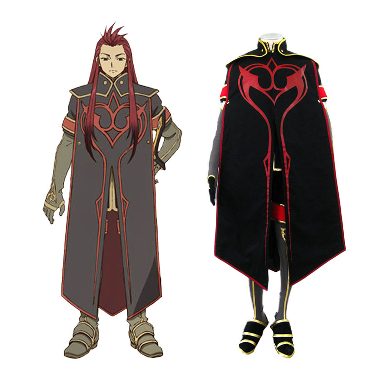 Tales of the Abyss Asch 1 Anime Cosplay Costumes Outfit