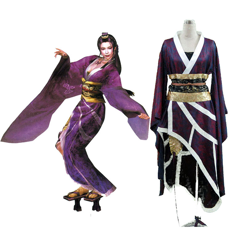Samurai Warriors Nouhime 1 Anime Cosplay Costumes Outfit