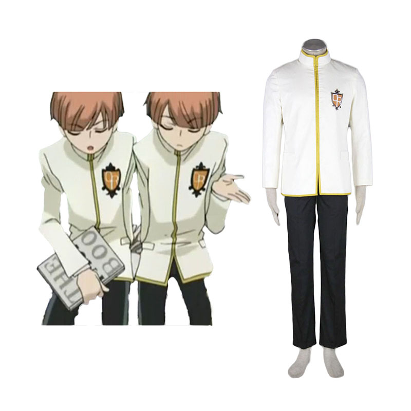 Ouran High School Host Club Male Uniforms Yellow Anime Cosplay Costumes Outfit