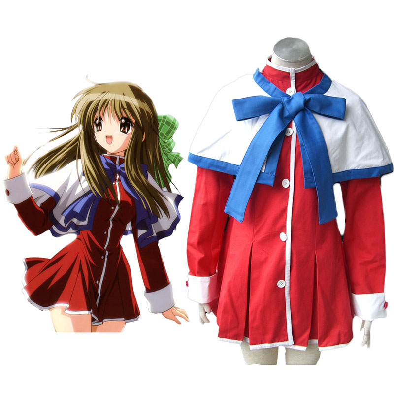 Kanon High School Uniforms Blue Ribbon Anime Cosplay Costumes Outfit