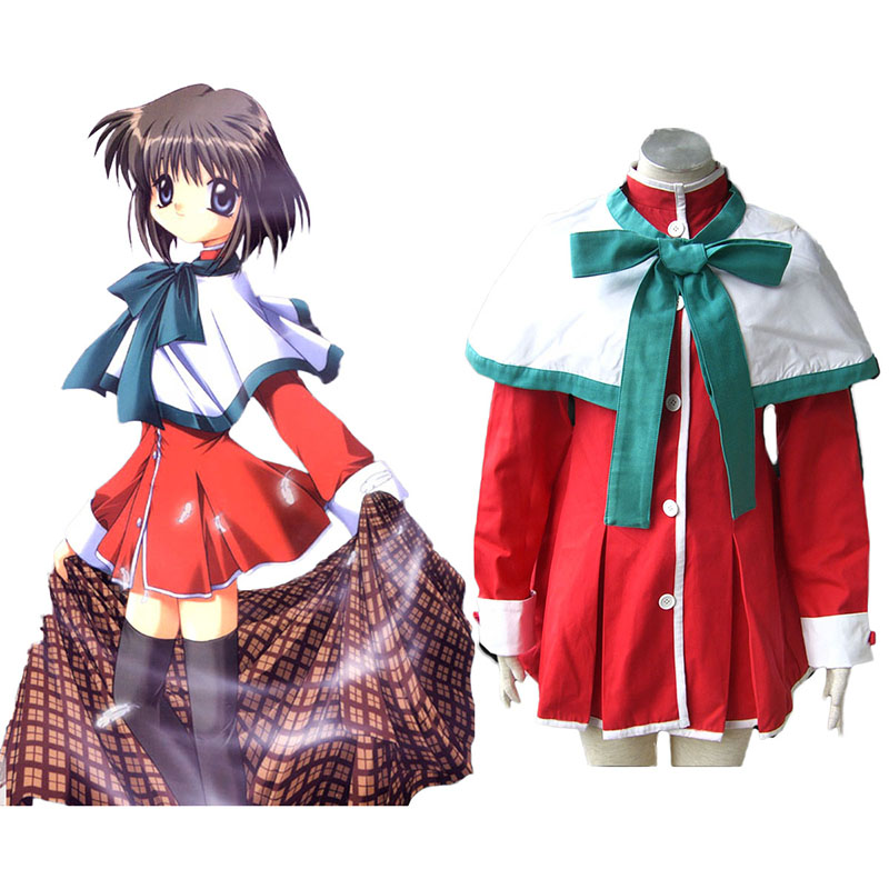 Kanon High School Uniforms Green Ribbon Anime Cosplay Costumes Outfit