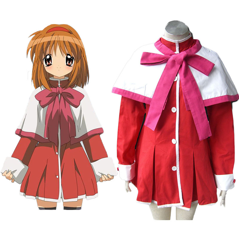 Kanon High School Uniforms Pink Ribbon Anime Cosplay Costumes Outfit