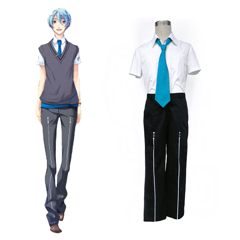 Starry Sky Male Summer School Uniform 3 Anime Cosplay Costumes Outfit