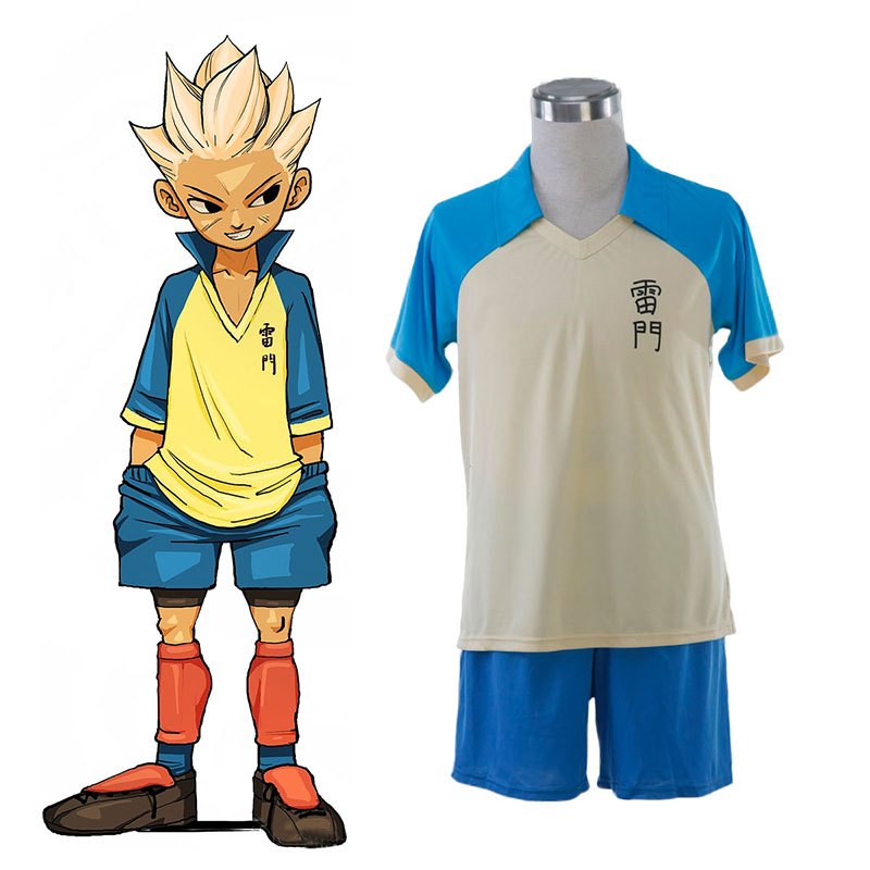 Inazuma Eleven Raimon Summer Soccer Jersey 1 Anime Cosplay Costumes Outfit