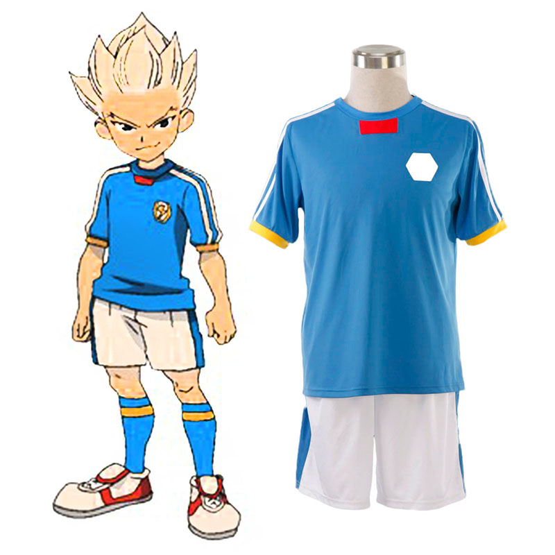 Inazuma Eleven Japan National Team Summer 1 Anime Cosplay Costumes Outfit