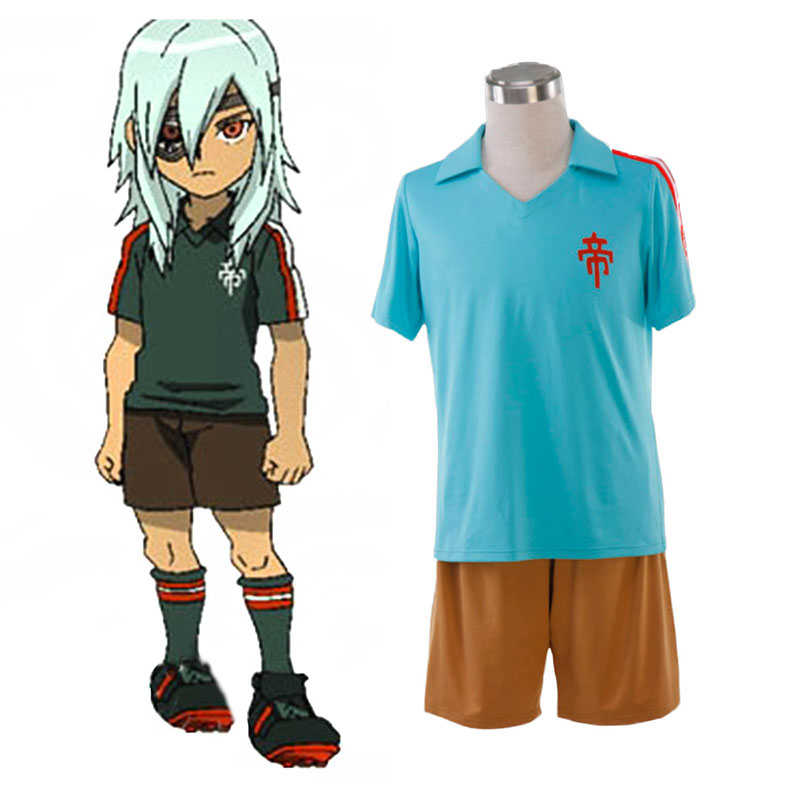 Inazuma Eleven Teikoku Summer Soccer Jersey 1 Anime Cosplay Costumes Outfit