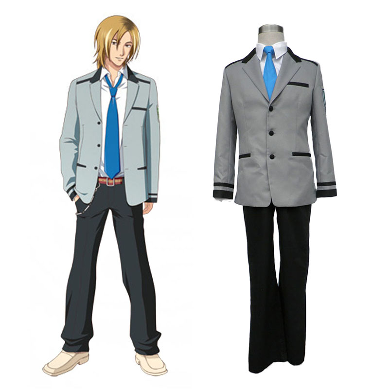 Tokimeki Memorial Girl's Side Male School Uniform Anime Cosplay Costumes Outfit
