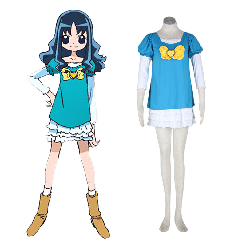 HeartCatch Pretty Cure! Erika Kurumi Anime Cosplay Costumes Outfit