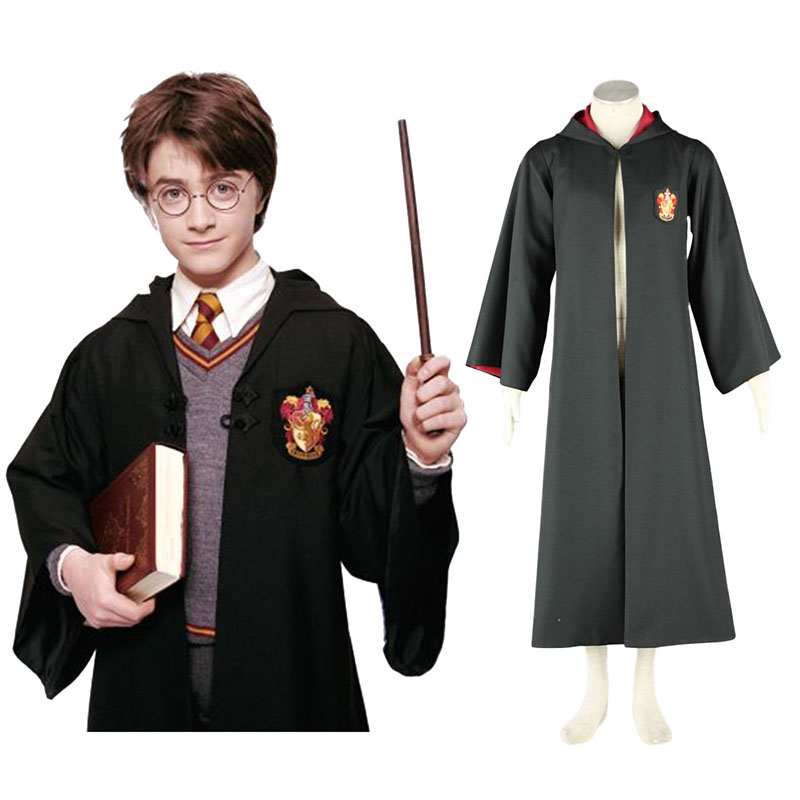 Harry Potter Gryffindor Uniform Cloak Anime Cosplay Costumes Outfit