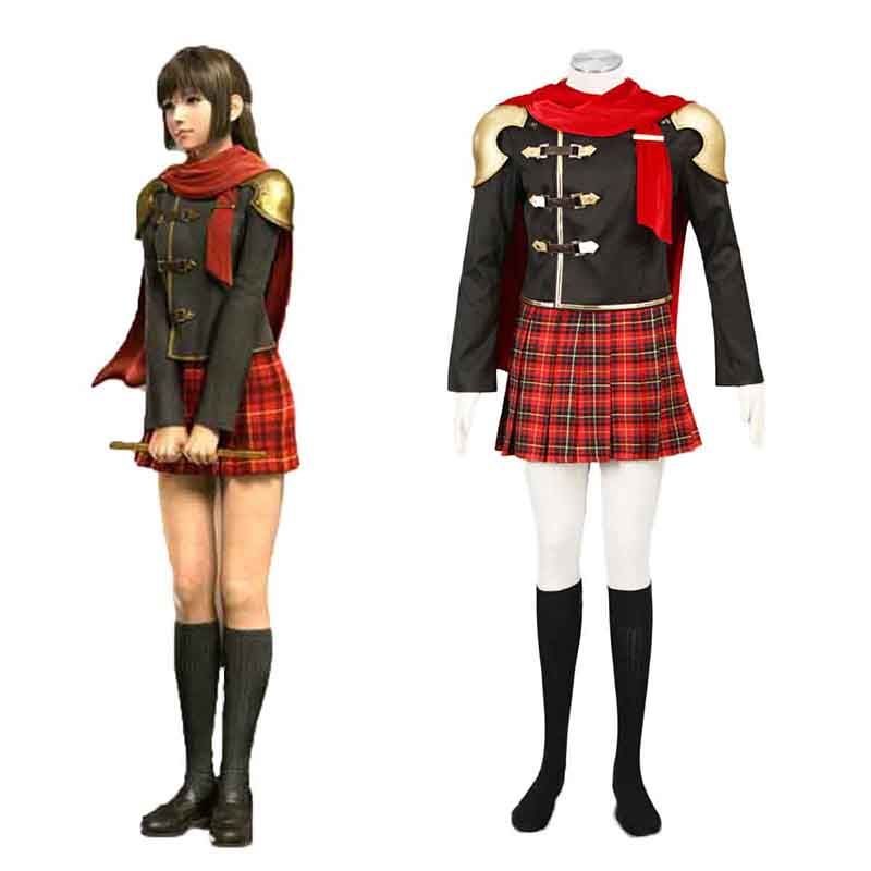 Final Fantasy Type-0 Deuce 1 Anime Cosplay Costumes Outfit