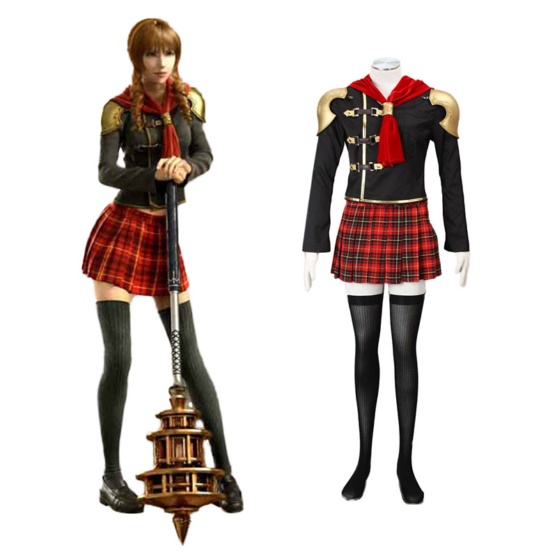 Final Fantasy Type-0 Cinque 1 Anime Cosplay Costumes Outfit