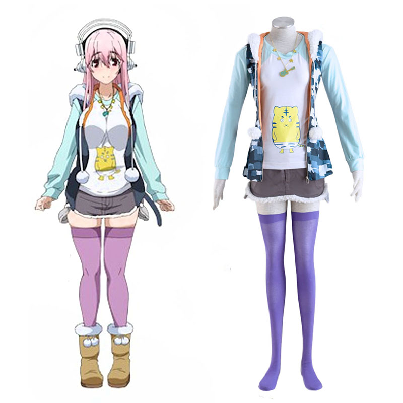 Soni-Ani:Super Sonico the Animation Super Sonico 1 Anime Cosplay Costumes Outfit