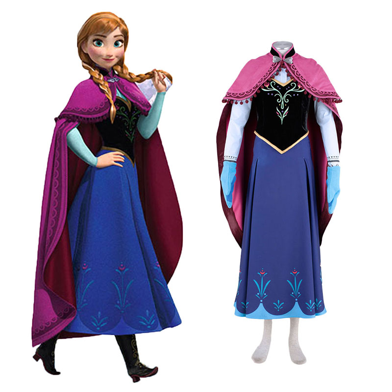 Frozen Anna 1 Anime Cosplay Costumes Outfit