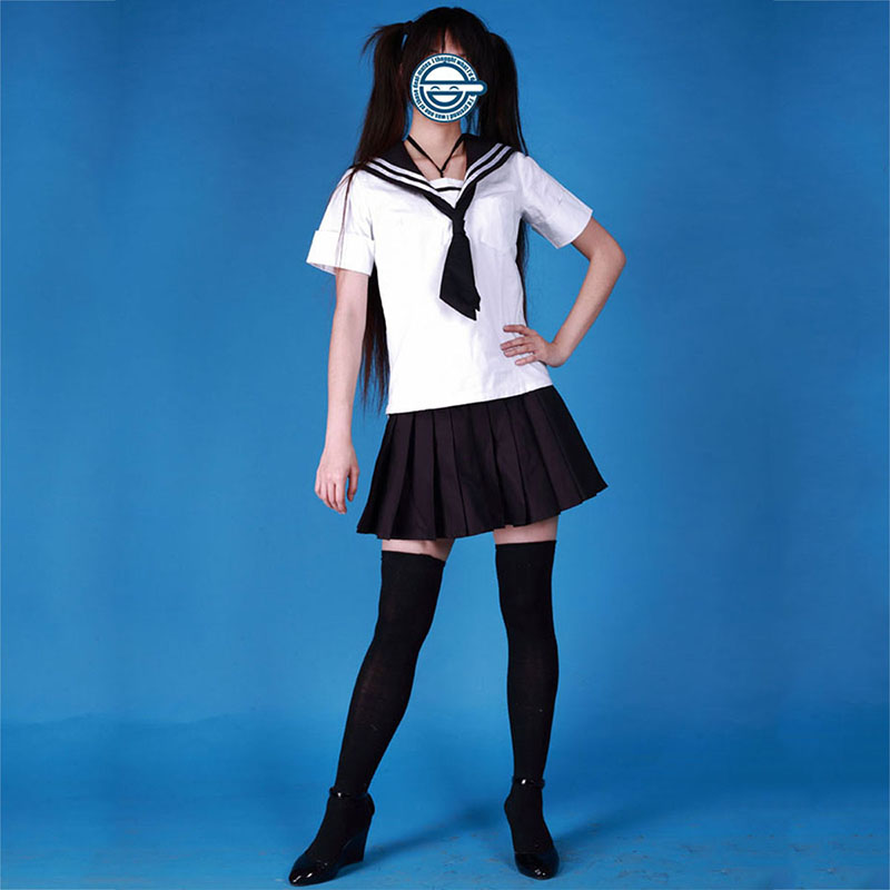Sailor Suit Uniform 3 Black Tie Anime Cosplay Costumes Outfit