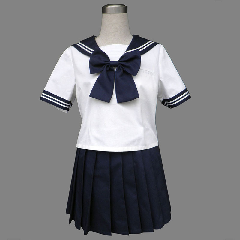 Royal Blue Short Sleeves Sailor Uniform 8 Anime Cosplay Costumes Outfit