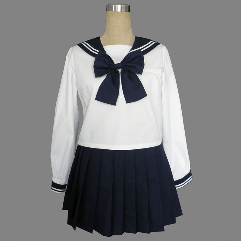 Long Sleeves Sailor Uniform 9 Anime Cosplay Costumes Outfit