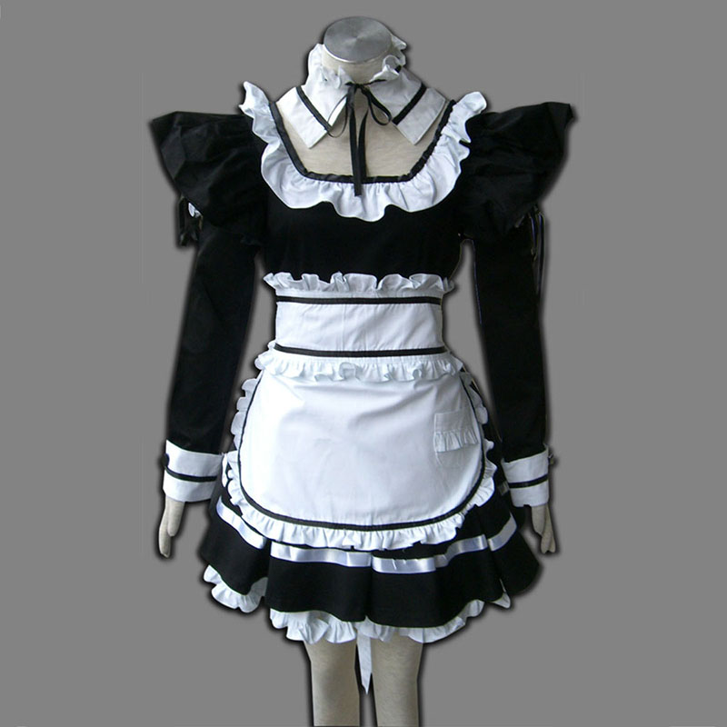 Black Maid Uniform 1 Anime Cosplay Costumes Outfit