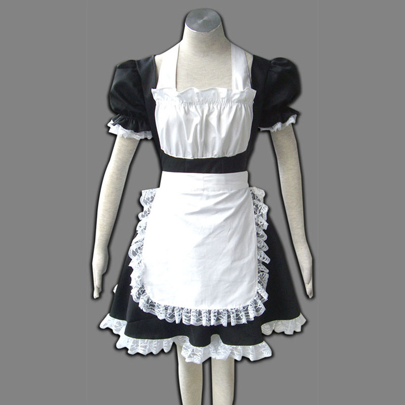 Maid Uniform 2 Black Winged Angle Anime Cosplay Costumes Outfit