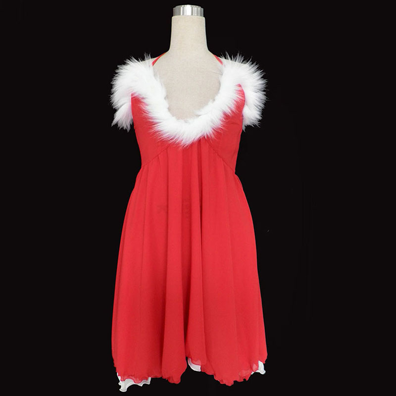 Christmas Lady Dress 3 Anime Cosplay Costumes Outfit