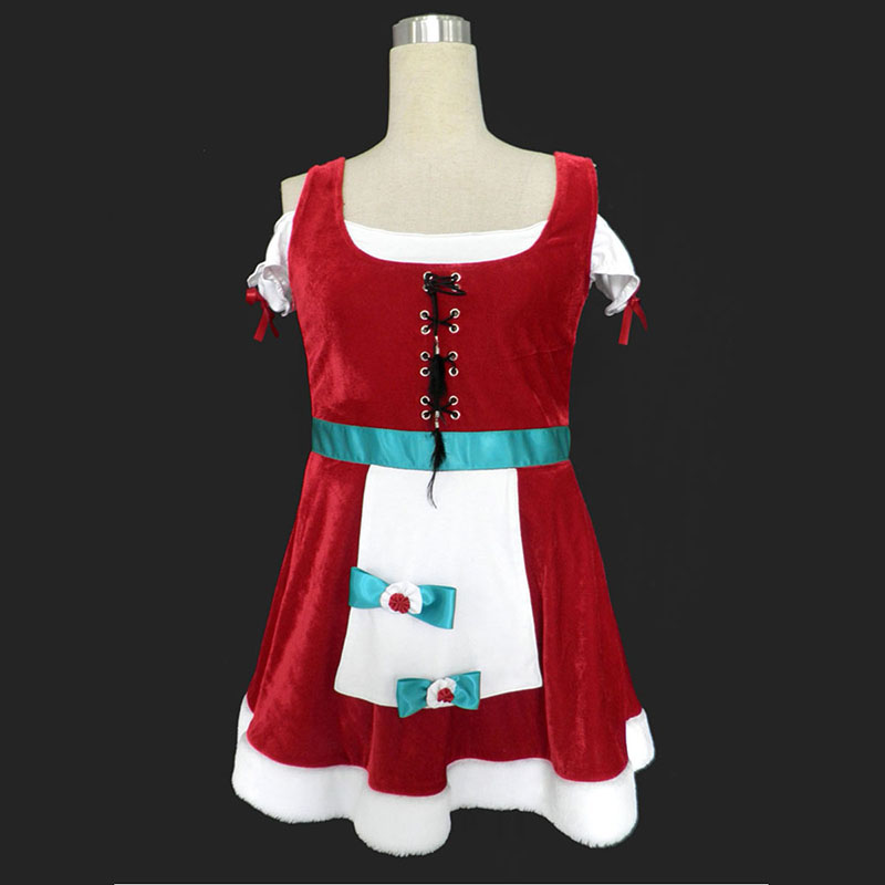 Christmas Lady Dress 8 Anime Cosplay Costumes Outfit