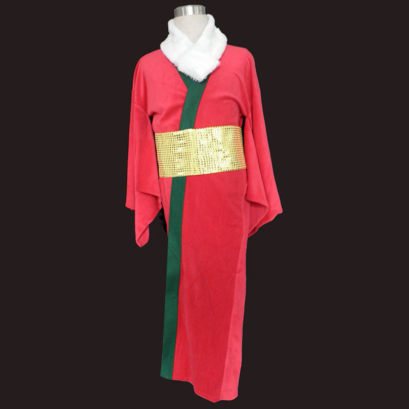 Christmas Red Kimono 1 Anime Cosplay Costumes Outfit
