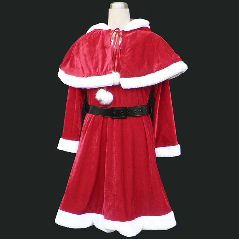 Christmas Lady Dress 9 Red Anime Cosplay Costumes Outfit