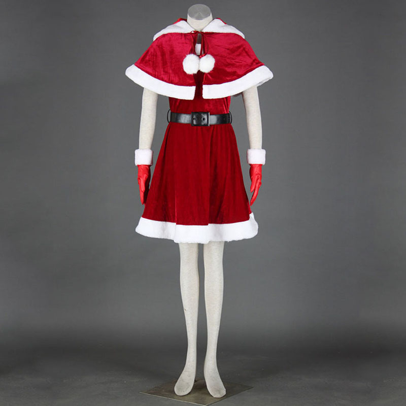 Christmas Lady Dress 11 Anime Cosplay Costumes Outfit