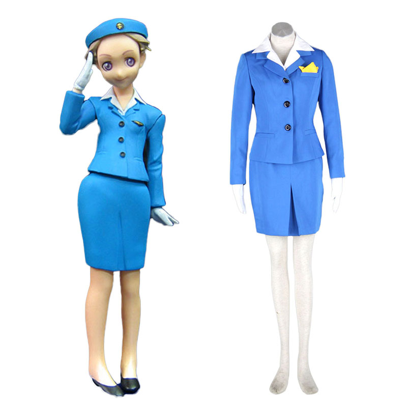 Aviation Uniform Culture Stewardess 1 Anime Cosplay Costumes Outfit