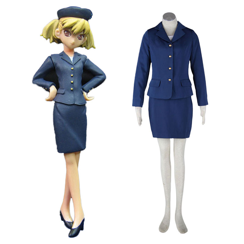 Aviation Uniform Culture Stewardess 3 Anime Cosplay Costumes Outfit