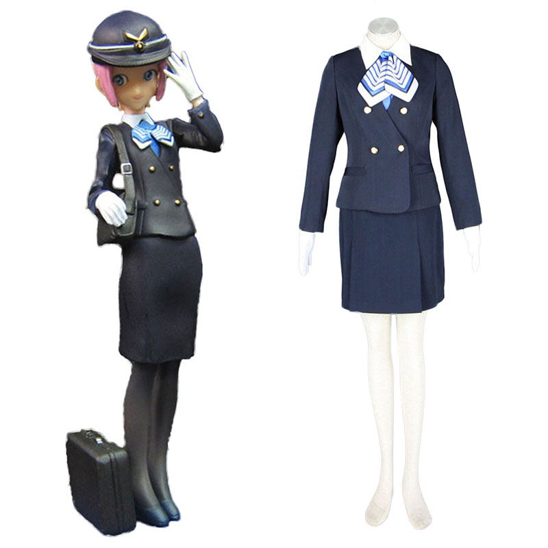 Aviation Uniform Culture Stewardess 7 Anime Cosplay Costumes Outfit