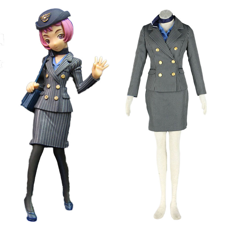 Aviation Uniform Culture Stewardess 8 Anime Cosplay Costumes Outfit