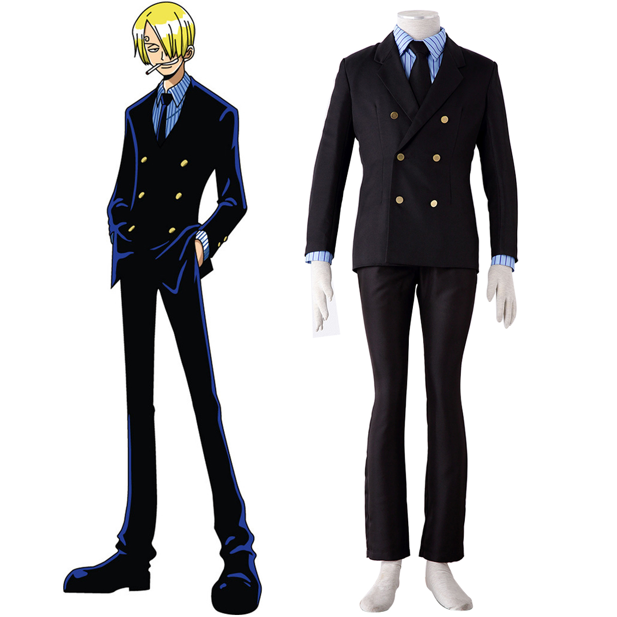 One Piece Sanji 1 Anime Cosplay Costumes Outfit