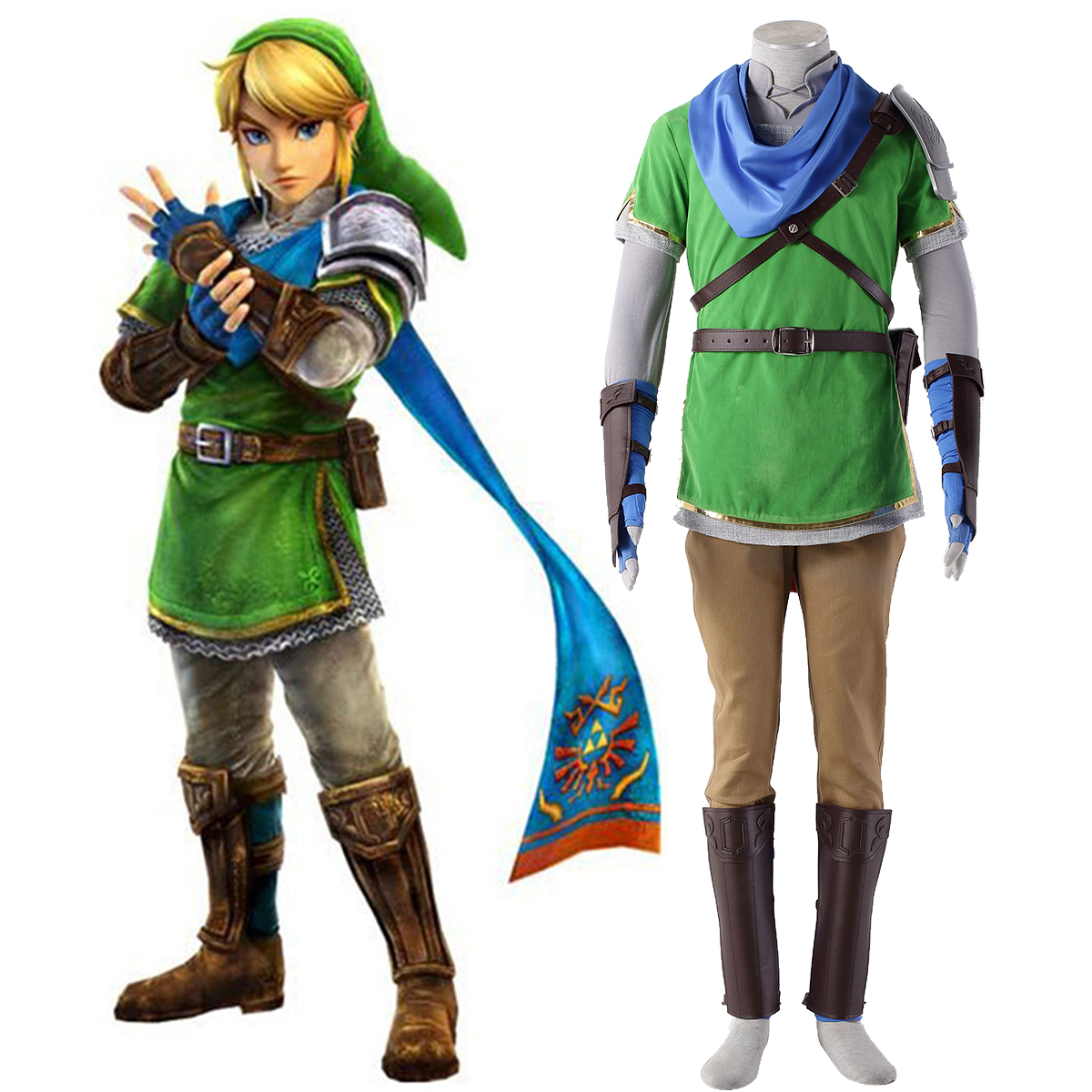 The Legend of Zelda Hyrule-Warriors Link 5 Anime Cosplay Costumes Outfit