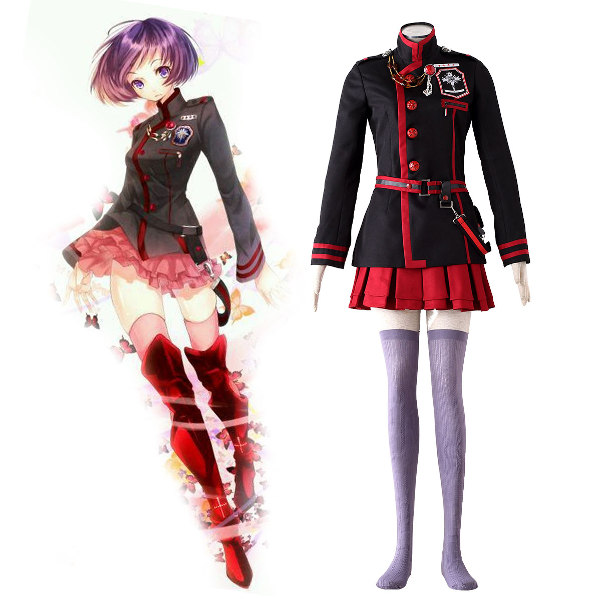 D.Gray-man Linali Lee 3 Anime Cosplay Costumes Outfit