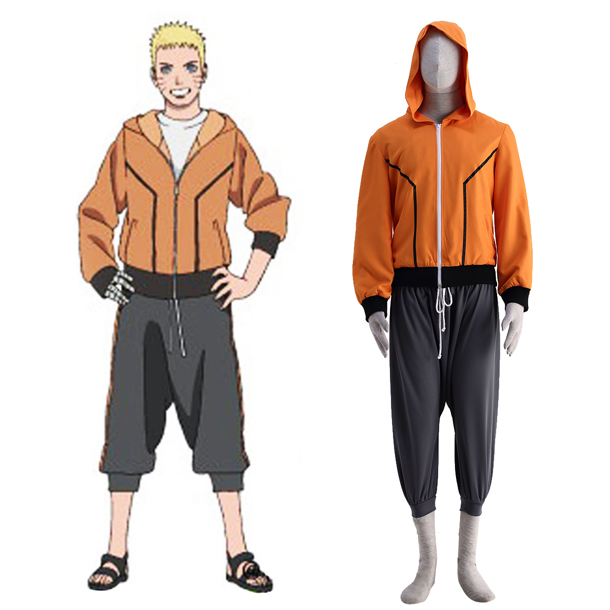 Naruto The Last Naruto 9 Anime Cosplay Costumes Outfit