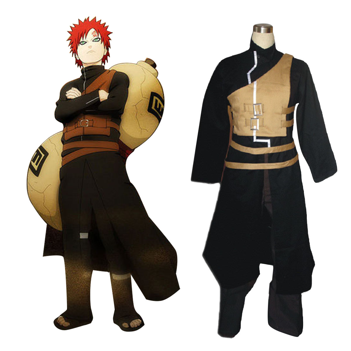 Naruto Shippuden Gaara 2 Anime Cosplay Costumes Outfit