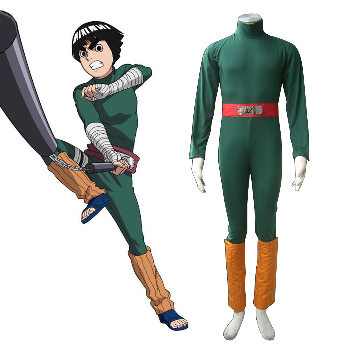 Naruto Rock Lee 1 Anime Cosplay Costumes Outfit