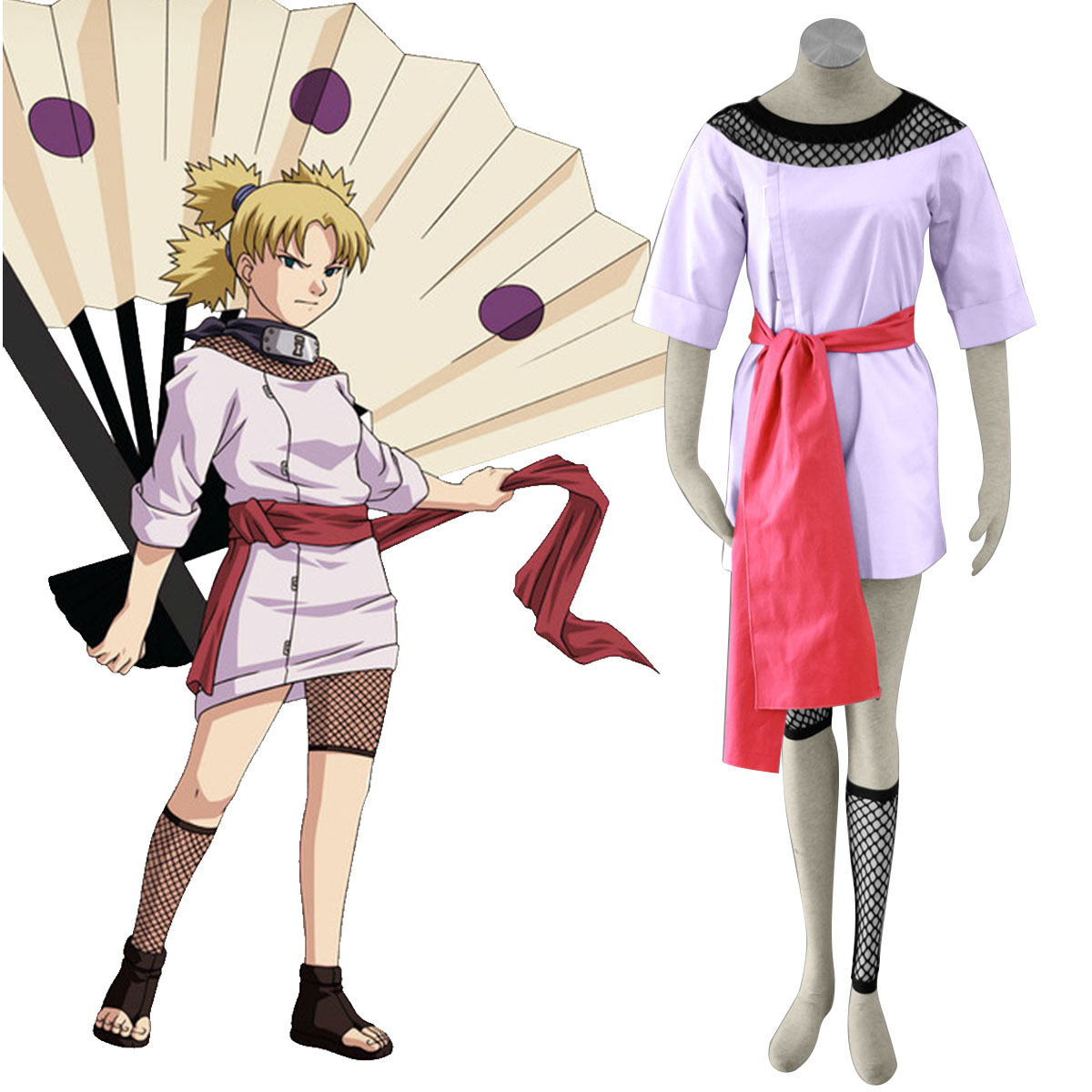 Naruto Temari 1 Anime Cosplay Costumes Outfit