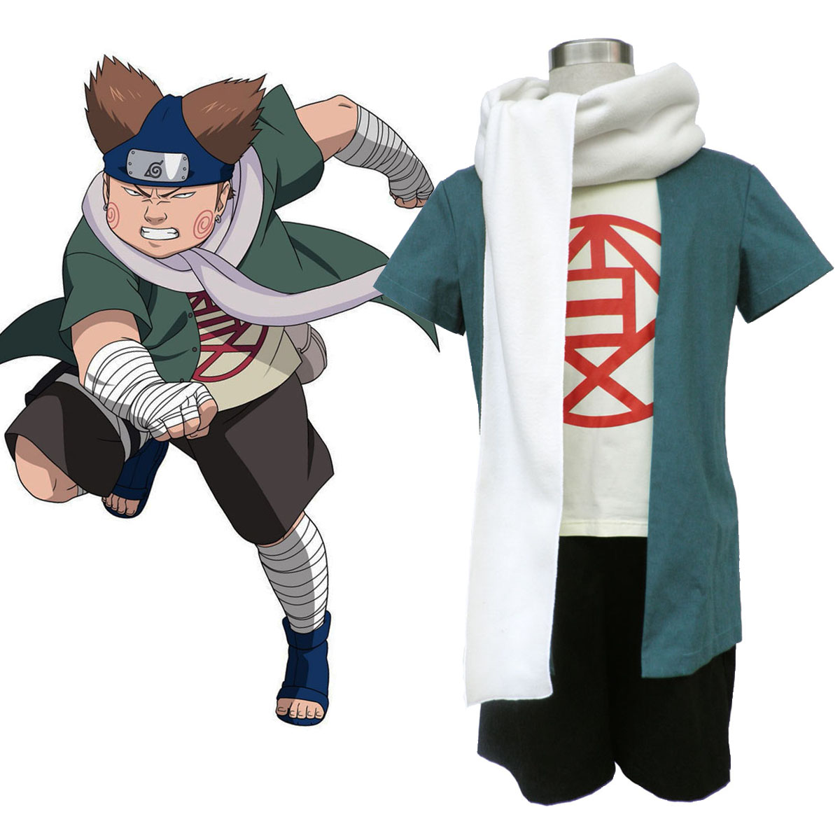 Naruto Choji Akimichi 1 Anime Cosplay Costumes Outfit