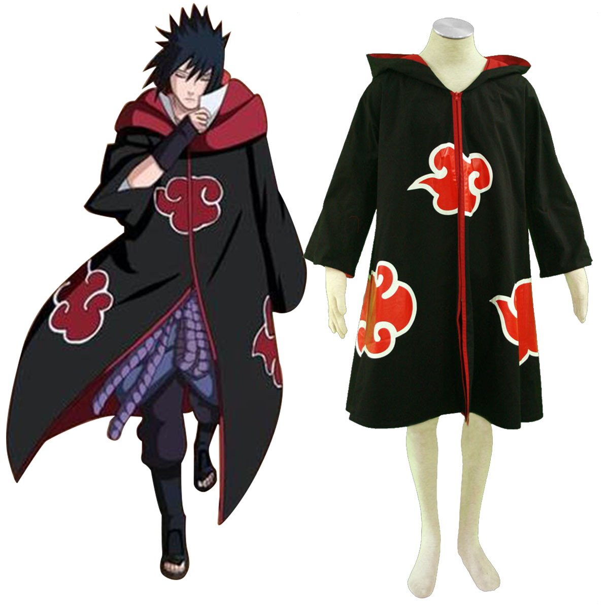 Naruto Taka Organization Anime Cosplay Costumes Outfit